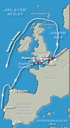 Spanish Armada Route