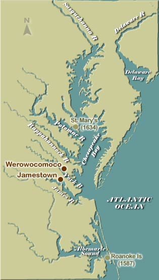 Chesapeakejpg - Jamestown on us map
