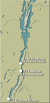 Fort Carillon Map
