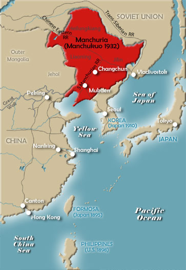 Sino-Japanese Crisis Map, 1931-32