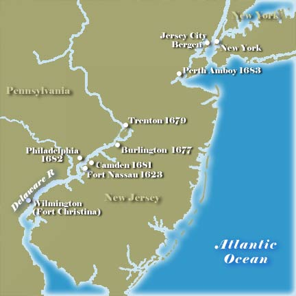 Early New Jersey Map