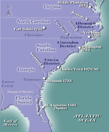 Early North Carolina Map