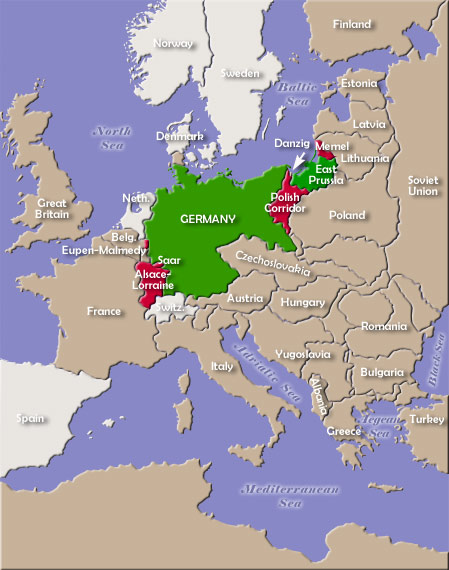map of german territorial losses