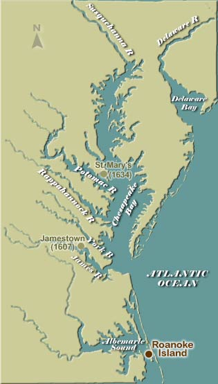 Roanoke Island Map