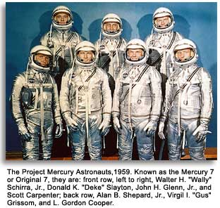 Image result for nasa announces the mercury 7 astronauts